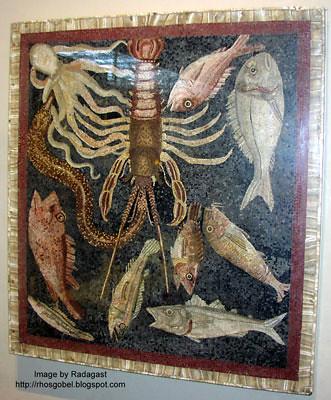 Seafood mosaic