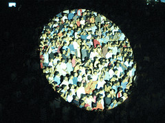 Brilliant photograph. The spotlight on the crowd.