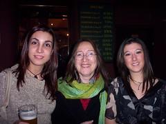 Con Aida y Rebeca