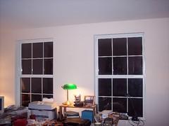 Bare loft windows