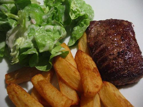 Steak, salad 'n fries