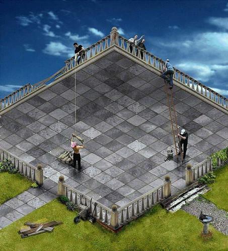 ilusión optica para cuestionar el estado natural de las cosas