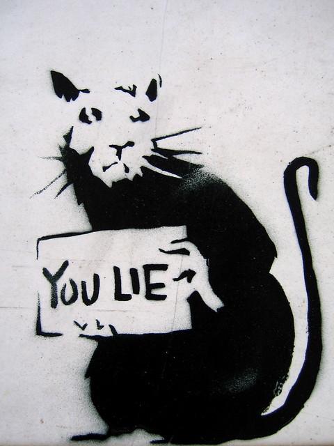 you lie - banksy