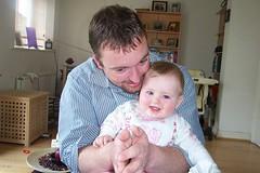 Daddy and Caithlyn Hug - July 2004