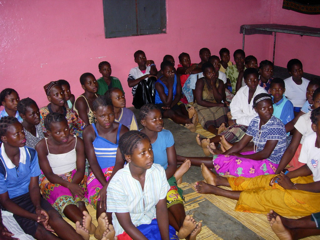 mozambique school girls' dorm