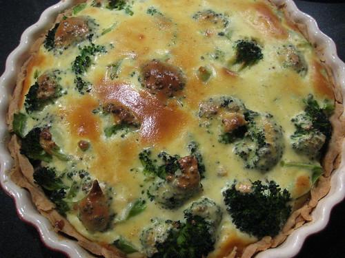 Ricotta and broccoli pie