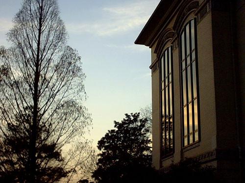 uga sunset glass architecture