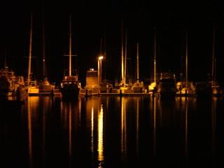 Bunbury Western Australia - Bunbury harbour at night