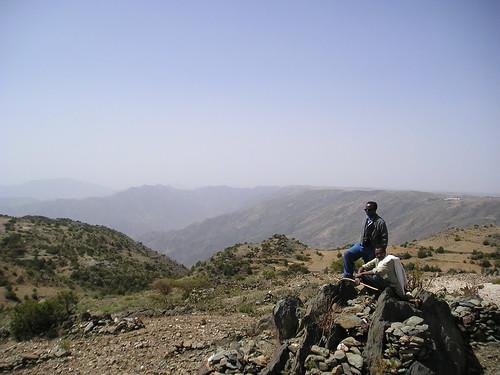 Dad & Guide on Eritrean Mountain Top
