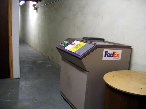 The lonliest FedEx drop-off box on earth.