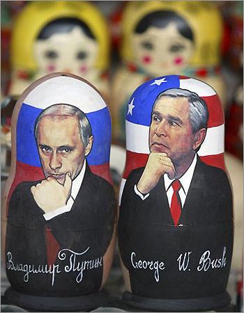Putin Bush Dolls