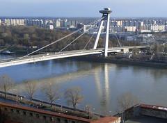 The Novy Most bridge in Bratislava