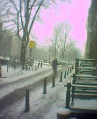 Sneeuw in Amsterdam