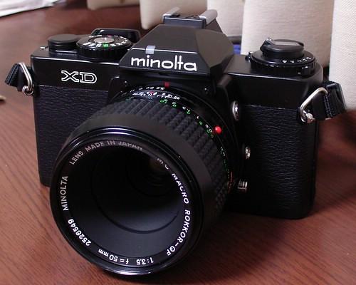 Minolta XD+MC Macro Rokkor-QF50mm/f3.5