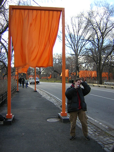 My brother, Shir, in front of one of The Gates.