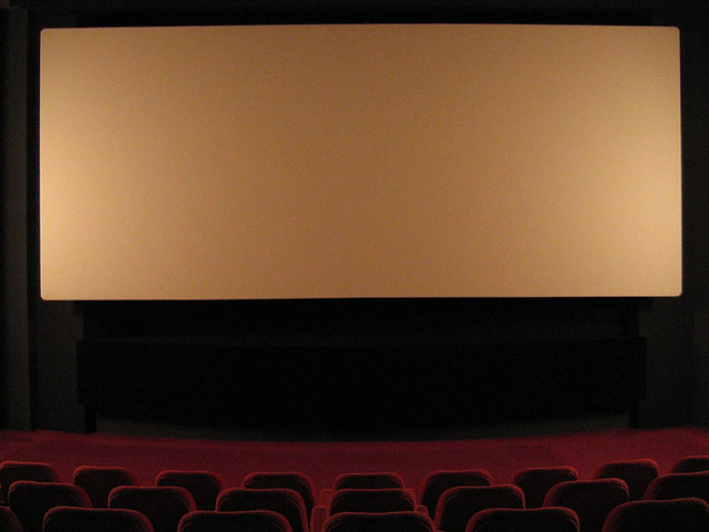 "ecran_amitie | screen of the movie theather ""le cinema"