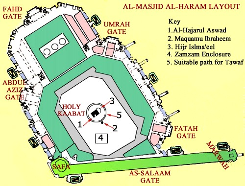 Enjoyable Layout Of Masjid Al Haram At Makkah A Sane Voice In A Mad Machost Co Dining Chair Design Ideas Machostcouk