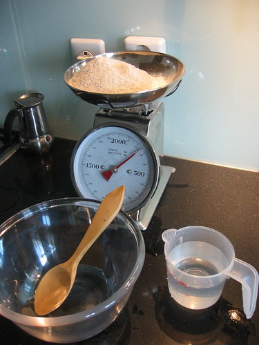 Making sourdough, day 1