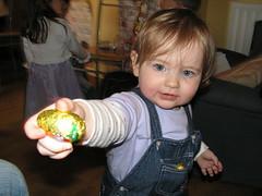 Caithlyn presenting egg small