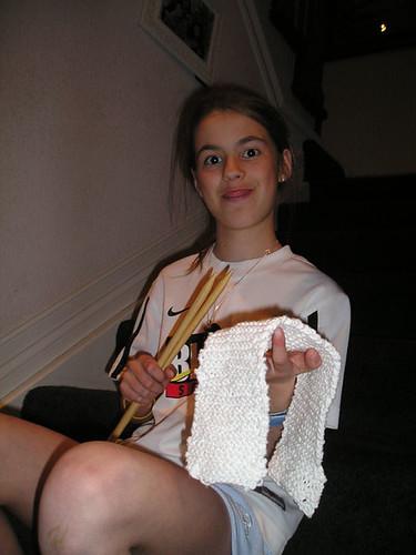 Mary Knitting I
