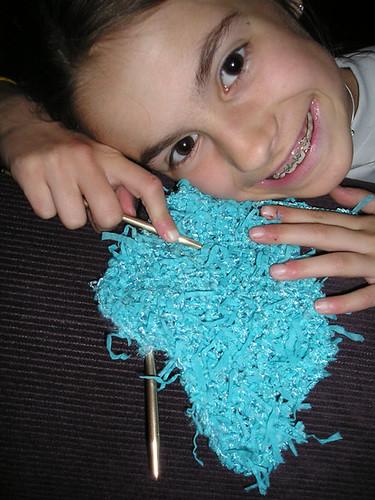 Mary Knitting II