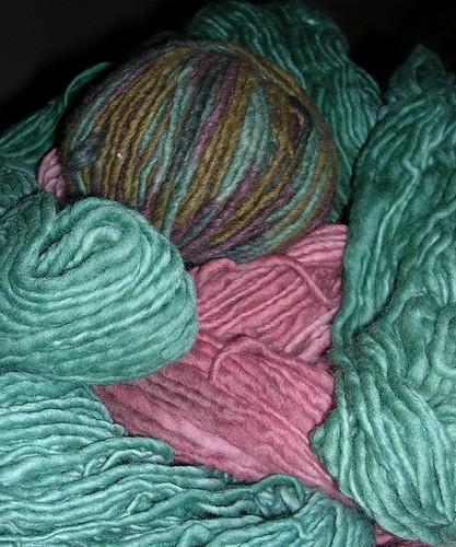 Kitty Pi Bed yarn