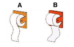 Modos de colocación del papel higiénico