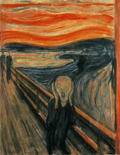 edvard munch - the scream  1893   by oddsock
