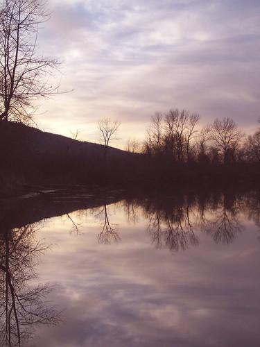 wood sunset sky lake reflection water oregon pond ashland ©allrightsreserved pixability bgoldman