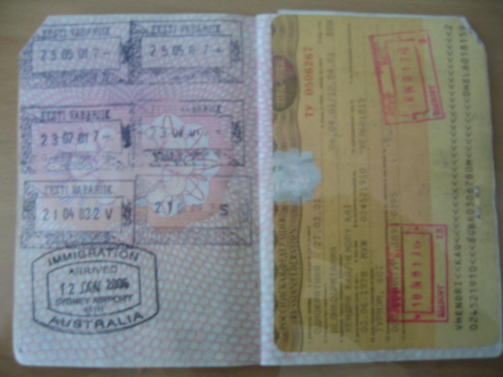 Russian visa example
