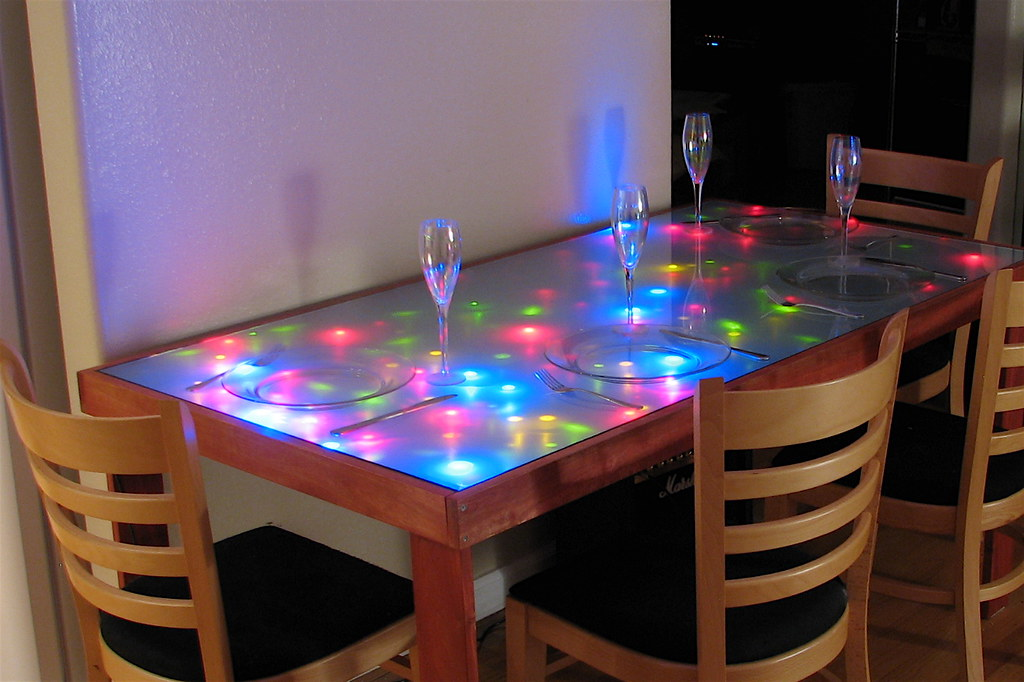 interactive led dining table dining table with a frosted g flickr rh flickr com cool kitchen tablecloth cool kitchen tablecloth