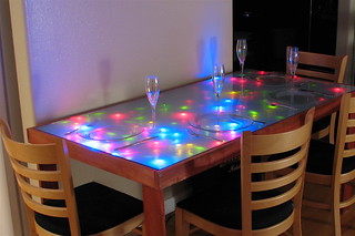 Interactive LED Dining table | by oskay