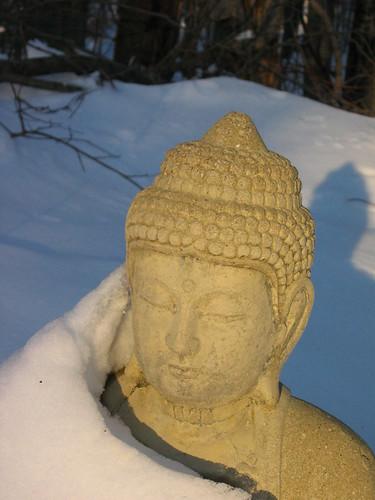 sunset snow statue garden 1 buddha ims