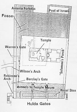 A map of the exact location of the Second Temple in Jerusa ...