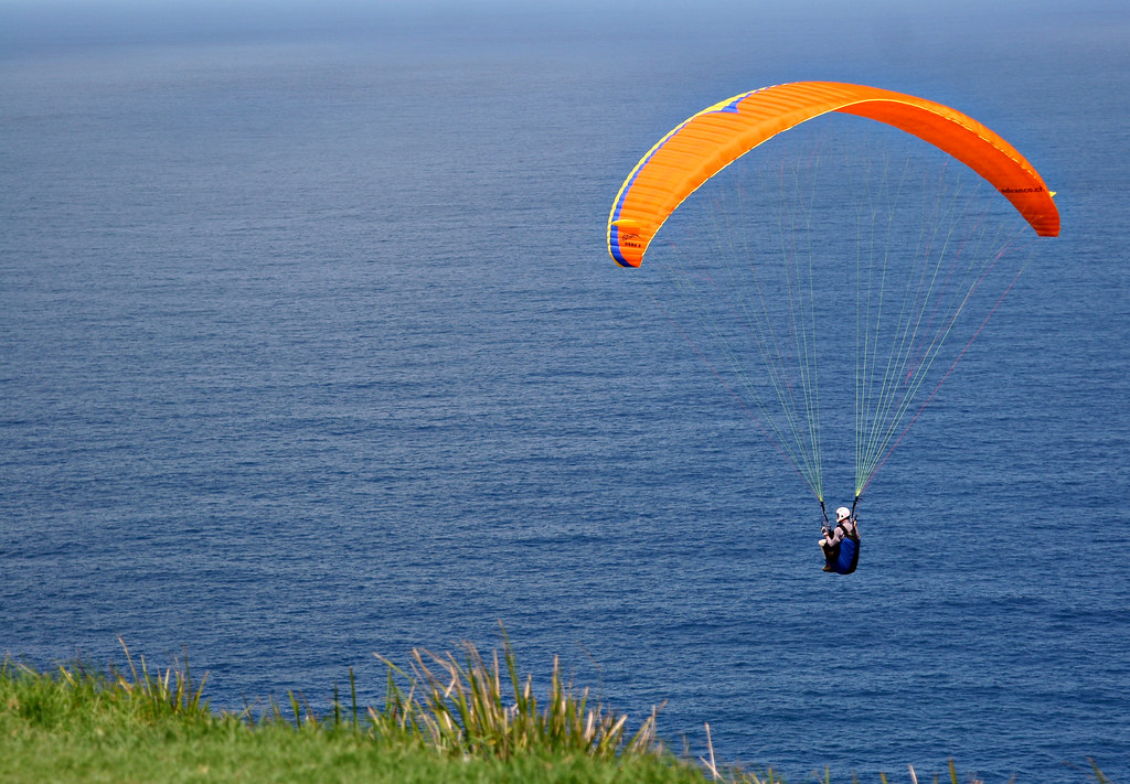 Image: Paraglider off the Stanwell Tops Coast