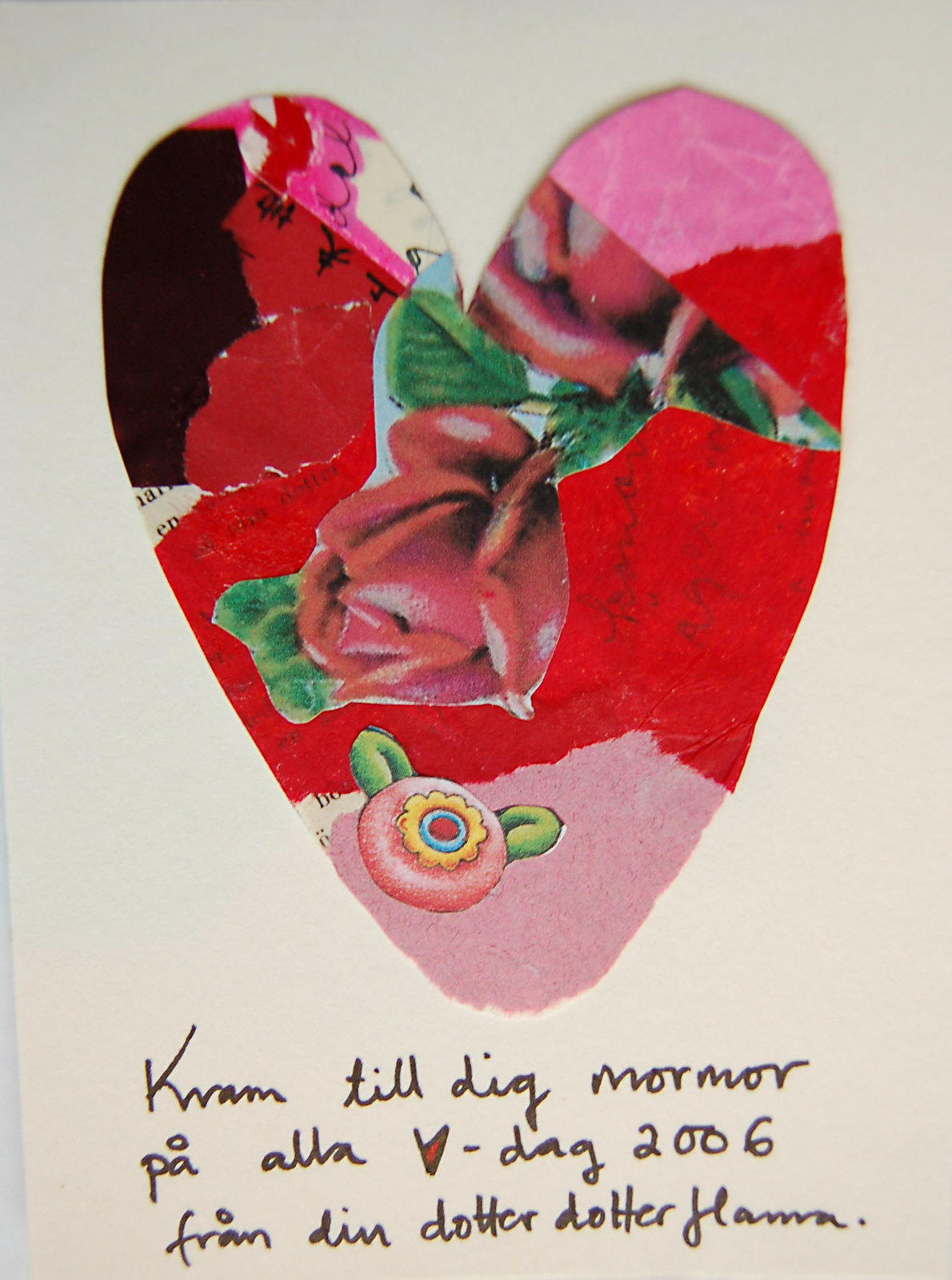 Valentines Day Card for grandmother / Kort till mormor from iHanna