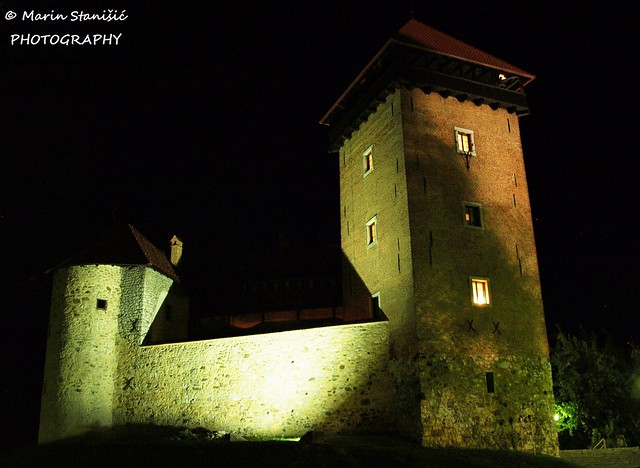 Castle Dubovac at night