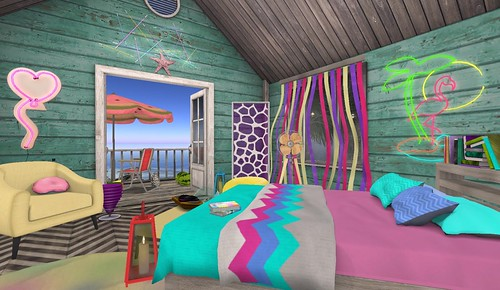 Fiesta Shack 1980's Bedroom | by Hidden Gems in Second Life (Interior Designer)