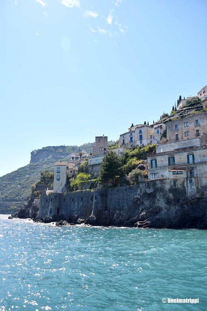 Maisemakuva Amalfi rannikolta