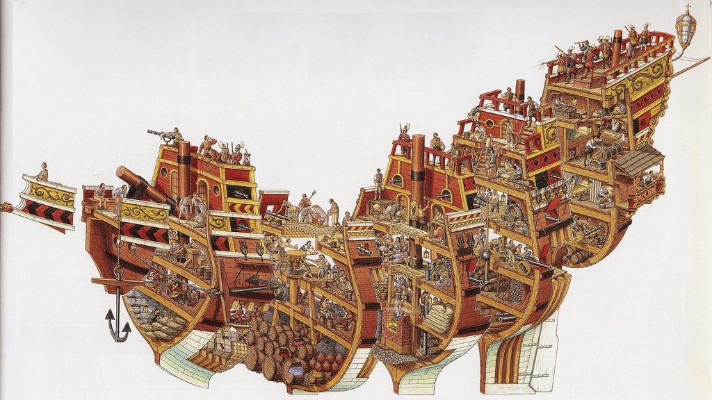 Stephen Biesty Spanish Galleon Cutaway | Another wonderful i… | Flickr