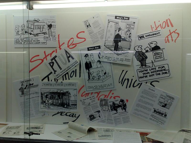Flinders St station history display