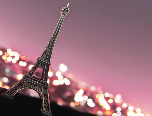 longexposure pink paris france lights nightshot bokeh eiffeltower scalemodel cityoflights project365 explored tamron1750mmf28 nikond90 fauxparis parissouvenir michaeljosh