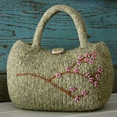 cherry blossom bag pattern | by Heidi Miller Hirtle