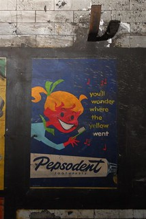 C1959 Vintage Pepsodent Toothpaste Poster Found In Notting