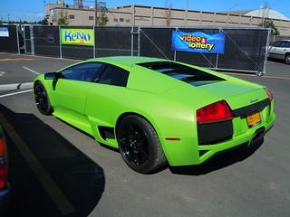 2008 Lamborghini Murcielago LP640. 93° in the shade.