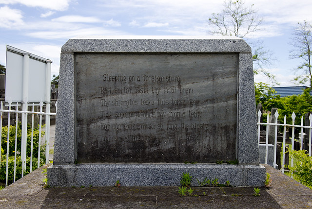 函館外国人墓地 Centenary monument of Perry's visit