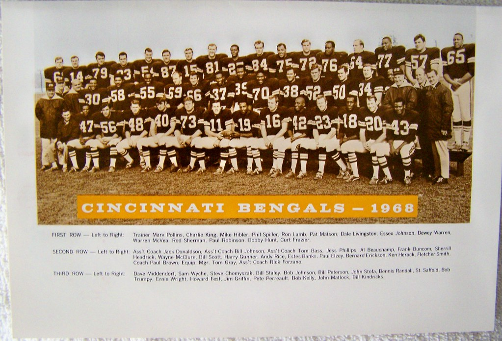 1968 CINCINNATI BENGALS AFL first year team photo | Cincinnati