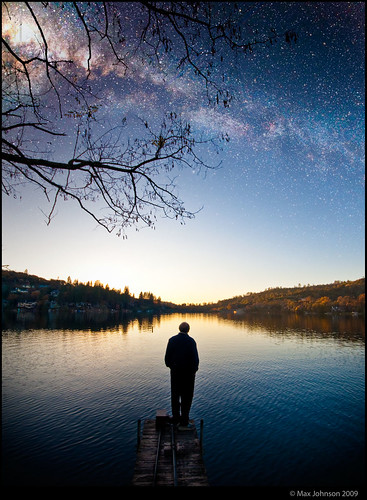 blue sunset sky lake man fall water silhouette night standing dark stars landscape geotagged evening dock dusk space watching shoreline deep thoughtful peaceful lakeside clear shore thinking serene fresnel ripples lowkey placid milkyway astonomy nebulae lakewildwood maxjohnson resevoire