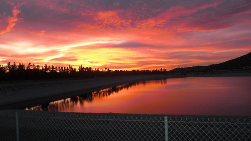 sunset lake backyard reservoir 2010