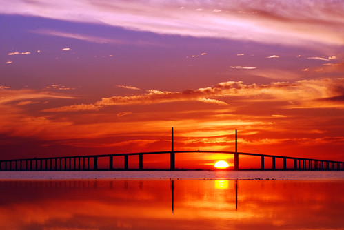 birthday reflection water sunrise bay still tampabay florida saintpetersburg ftdesoto sunshineskywaybridge michaelskelton michaeldskelton michaeldskeltonphotography